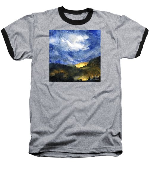Hot Spots In Our Mountains Tonight Baseball T-Shirt by Randy Sprout
