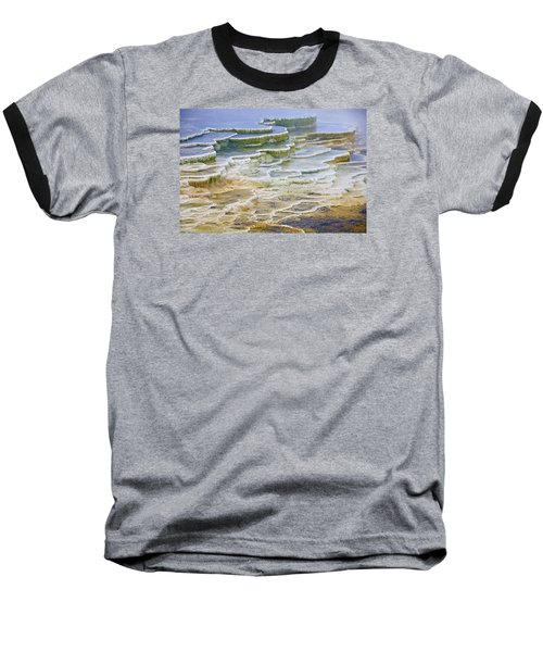 Baseball T-Shirt featuring the photograph Hot Springs Runoff by Gary Lengyel