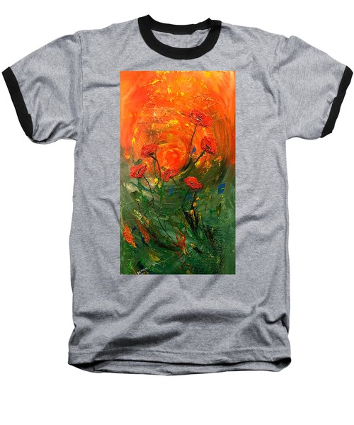 Hot Summer Poppies Baseball T-Shirt by Dorothy Maier