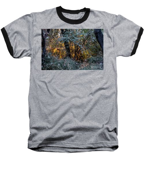 Hot Sunset In The Forest Baseball T-Shirt
