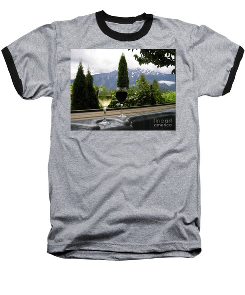 Hot Tub And Wine Baseball T-Shirt