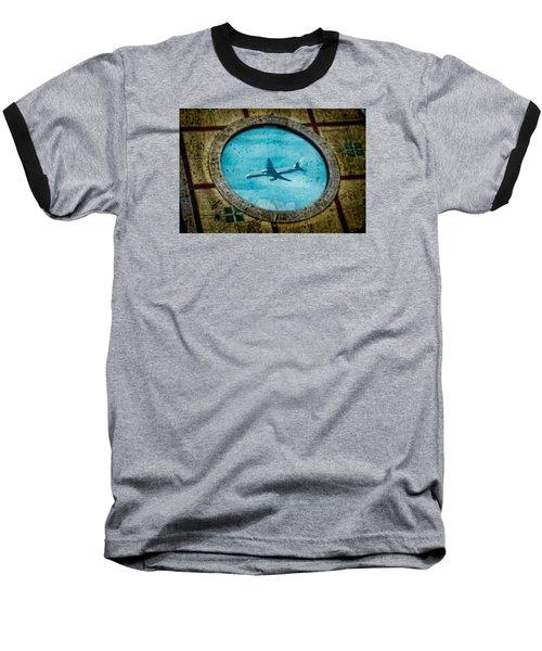 Hot Tub Flight Baseball T-Shirt
