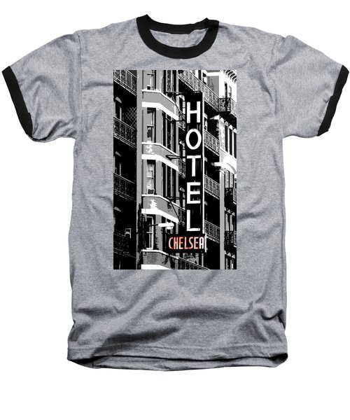 Hotel Chelsea Baseball T-Shirt by Christopher Woods