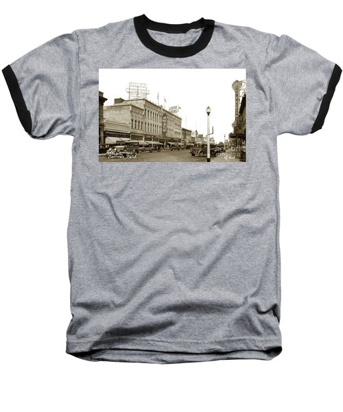 Hotel Cominos On Main Street In Salinas, Calif. Circa 1932 Zan Stark Photo # 423  Baseball T-Shirt