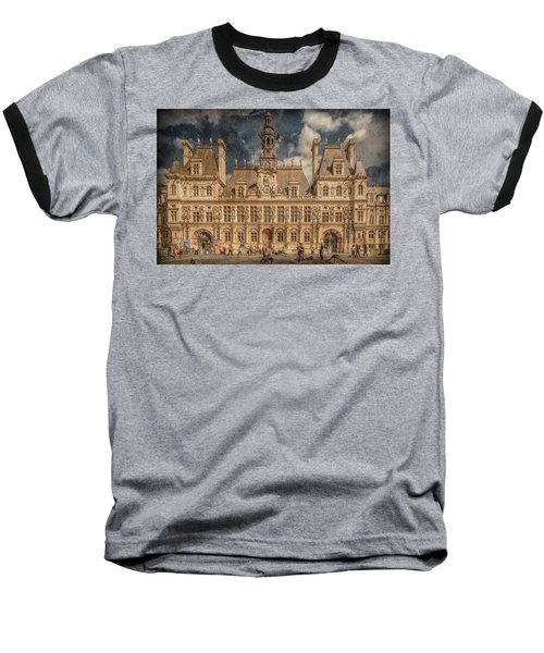 Paris, France - Hotel De Ville Baseball T-Shirt