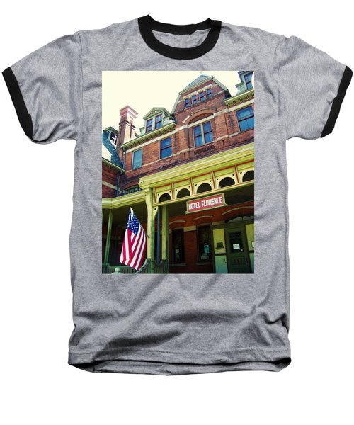 Hotel Florence Pullman National Monument Baseball T-Shirt by Kyle Hanson