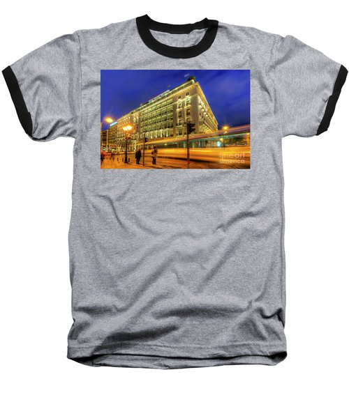 Baseball T-Shirt featuring the photograph Hotel Grande Bretagne - Athens by Yhun Suarez