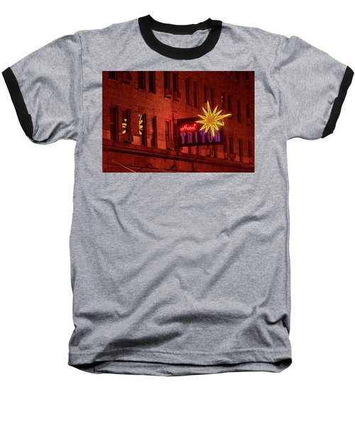 Hotel Triton Neon Sign Baseball T-Shirt