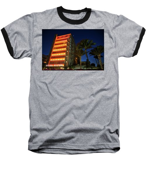 Hotel Victor South Beach Baseball T-Shirt