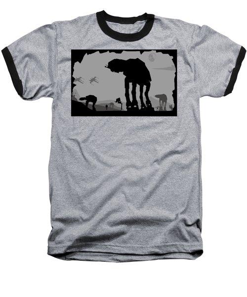 Hoth Machines Baseball T-Shirt by Michael Bergman