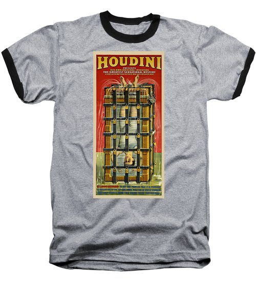 Houdini Advertisement 1916 Baseball T-Shirt by Andrew Fare