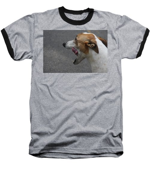 Baseball T-Shirt featuring the photograph Hound Portrait by Vadim Levin