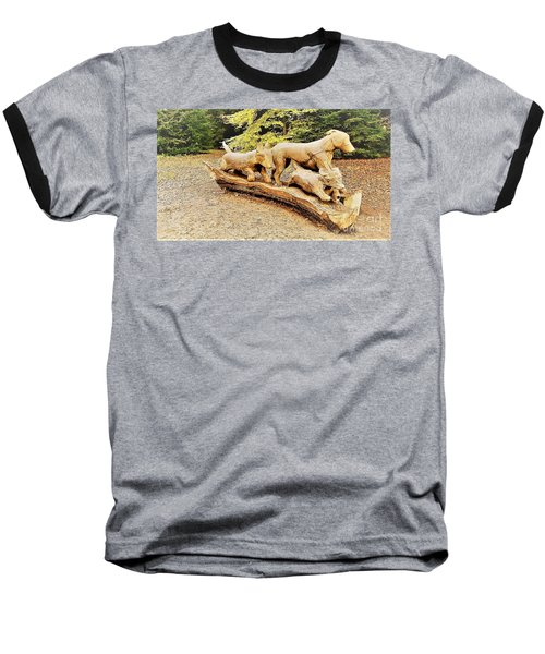 Hounds On The Run Baseball T-Shirt by John Williams