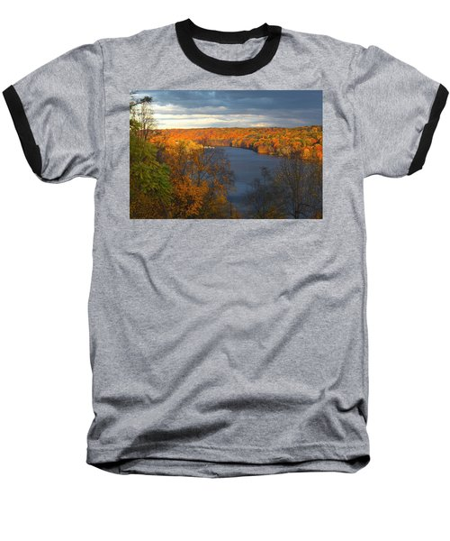 Baseball T-Shirt featuring the photograph Housatonic In Autumn by Karol Livote