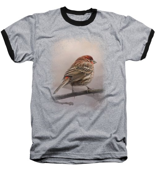 House Finch In January Baseball T-Shirt by Jai Johnson