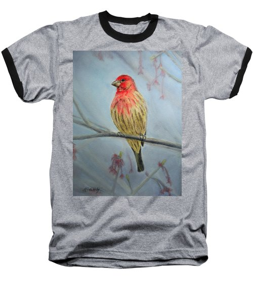House Finch Baseball T-Shirt by Marna Edwards Flavell