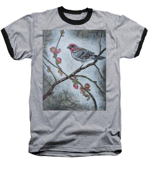 House Finch Baseball T-Shirt by Sheri Howe