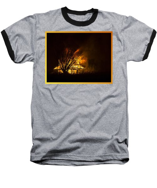 House Fire Baseball T-Shirt