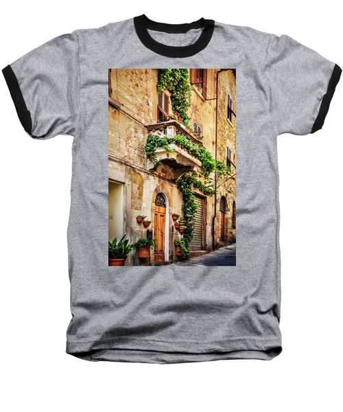Baseball T-Shirt featuring the photograph House In Arezzoo, Italy by Marion McCristall