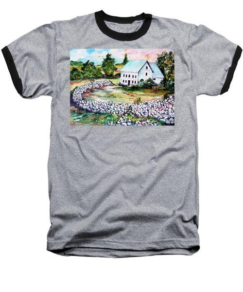 Baseball T-Shirt featuring the painting House In Bosnia H Kalinovik by Roberto Gagliardi