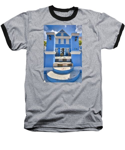 House Of Blues Baseball T-Shirt by Nadia Sanowar