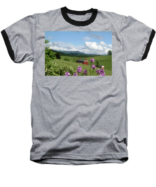 Baseball T-Shirt featuring the photograph House On Hill In Lexington by Emanuel Tanjala