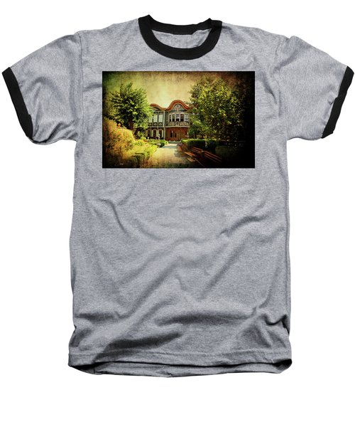 Baseball T-Shirt featuring the photograph House On The Hill by Milena Ilieva
