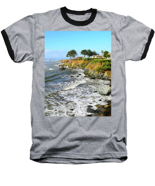 Baseball T-Shirt featuring the photograph House On The Point Cayucos California by Barbara Snyder