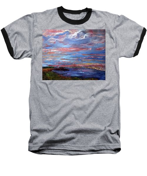 House On The Point Sunset Baseball T-Shirt