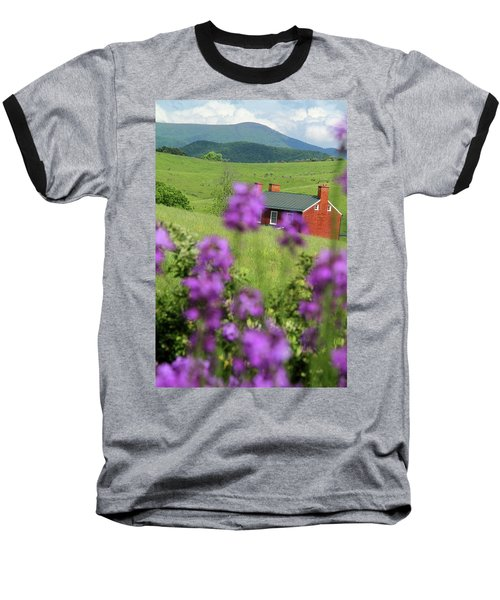 Baseball T-Shirt featuring the photograph House On Virginia's Hills by Emanuel Tanjala