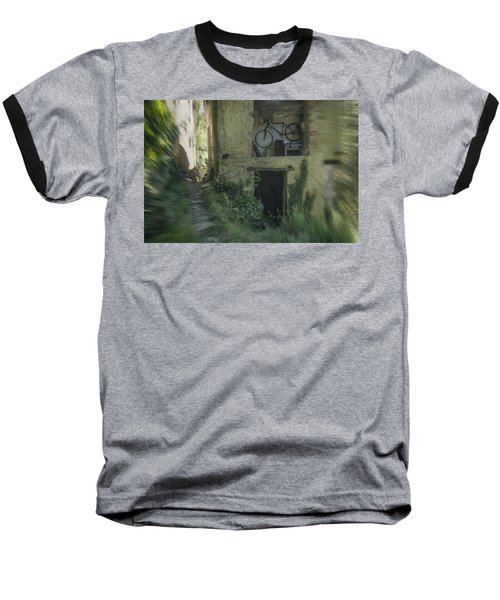 House With Bycicle Baseball T-Shirt