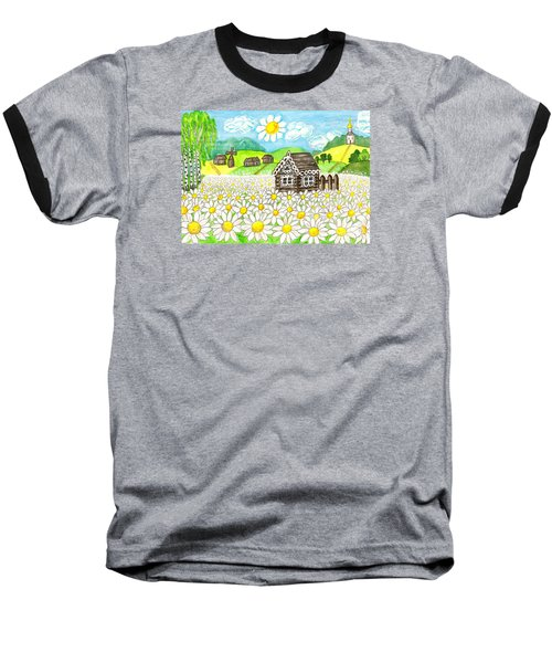 House With Camomiles, Painting Baseball T-Shirt