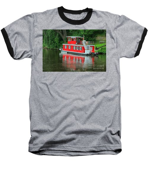 Houseboat On The Mississippi River Baseball T-Shirt by Teresa Zieba