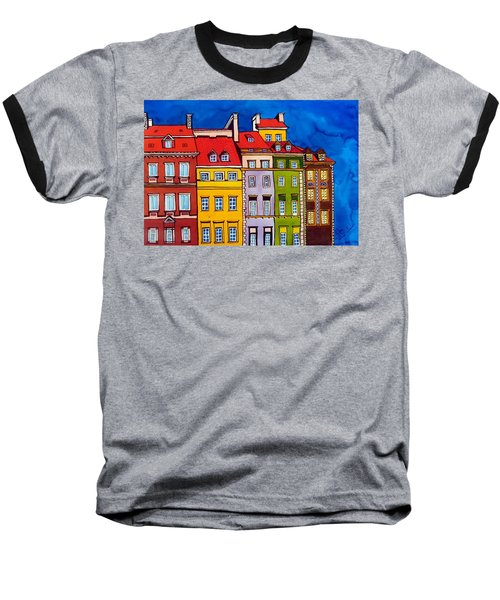 Houses In The Oldtown Of Warsaw Baseball T-Shirt by Dora Hathazi Mendes