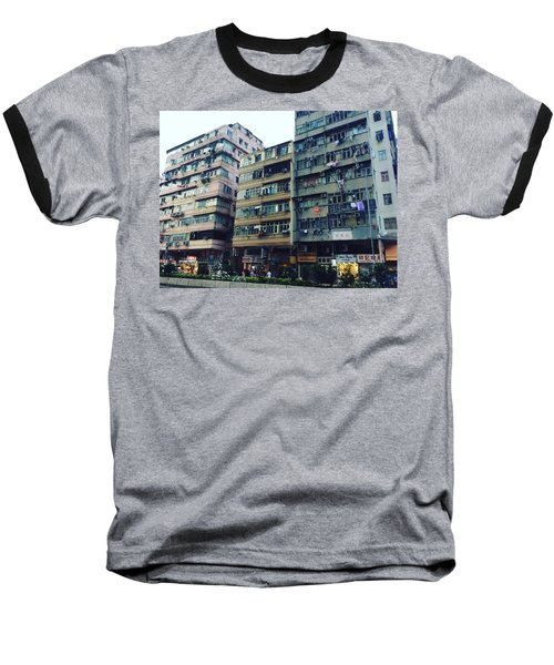Houses Of Kowloon Baseball T-Shirt by Florian Wentsch