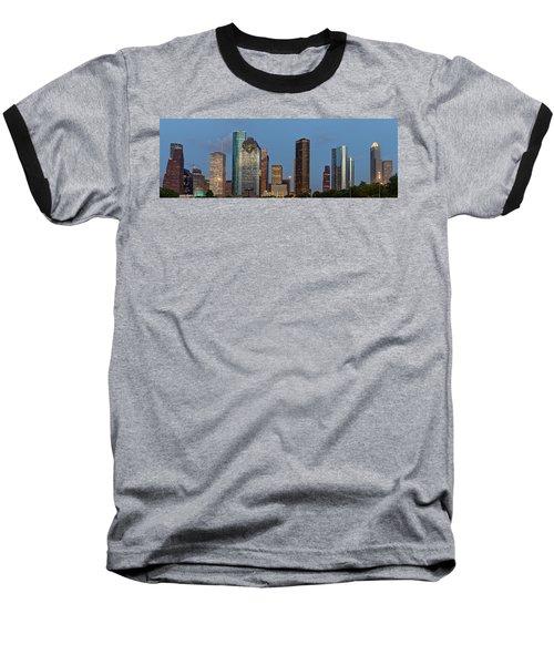 Baseball T-Shirt featuring the photograph Houston Skyline Panorama by Jonathan Davison
