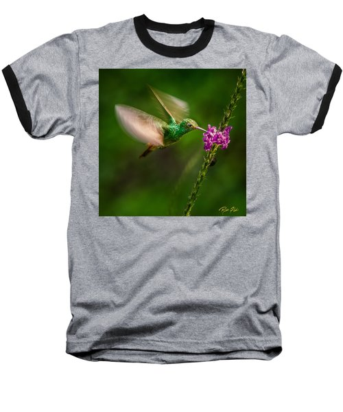 Baseball T-Shirt featuring the photograph Hovering In The Vervain  by Rikk Flohr