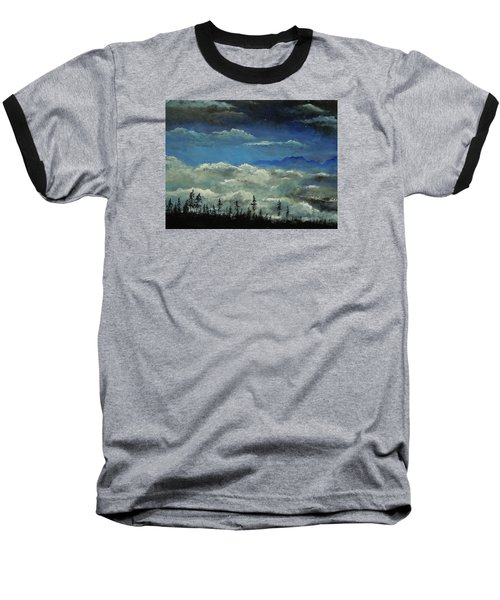 Baseball T-Shirt featuring the painting How Majestic Is Your Name by Dan Whittemore