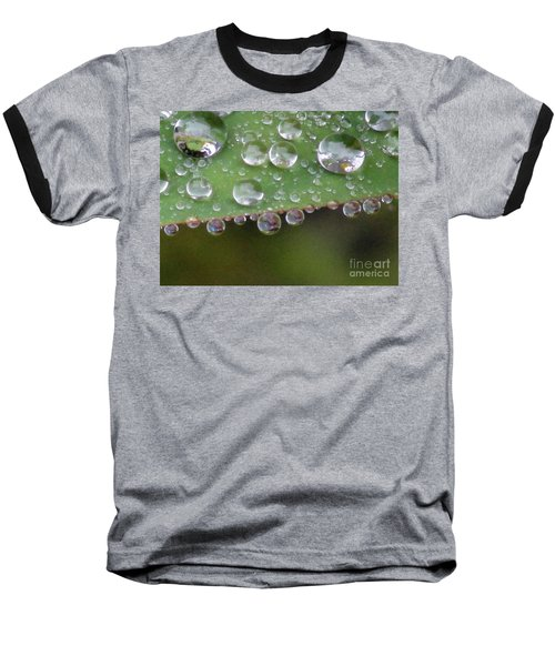 How Many Raindrops Can A Leaf Holds. Baseball T-Shirt by Kim Tran