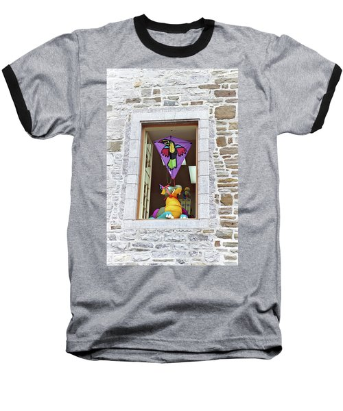 Baseball T-Shirt featuring the photograph How Much Is That Dragon In The Window by John Schneider