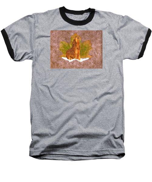 Howling Wolf Baseball T-Shirt by Ralph Root