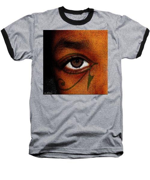 Hru's Eye Baseball T-Shirt by Iowan Stone-Flowers