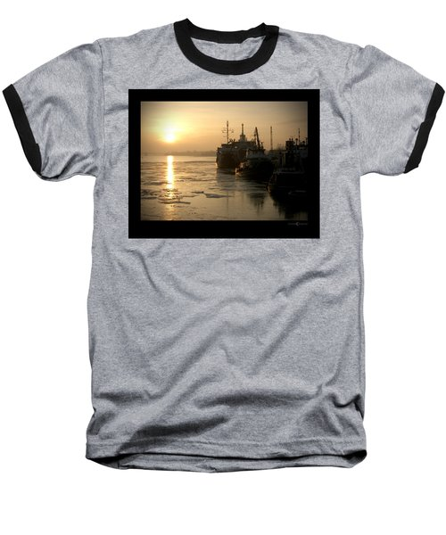 Huddled Boats Baseball T-Shirt