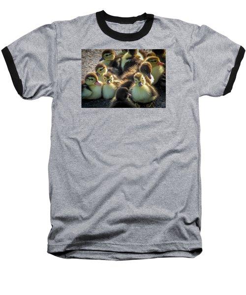 Huddled Together Baseball T-Shirt