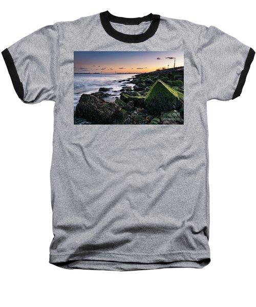 Hudson River And Verrazano-narrows Bridge Baseball T-Shirt