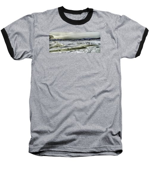 Hudson River Cold Spring, New York Baseball T-Shirt by Rafael Quirindongo