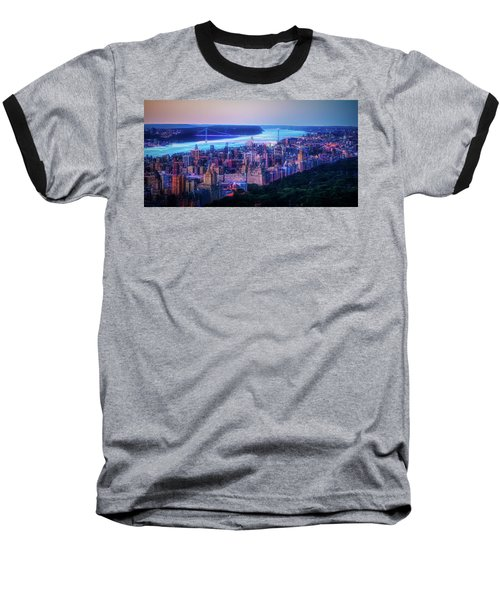 Baseball T-Shirt featuring the photograph Hudson River Sunset by Theodore Jones