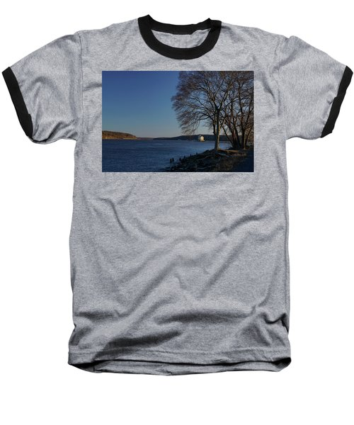 Hudson River With Lighthouse Baseball T-Shirt