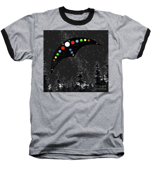 Baseball T-Shirt featuring the painting Hudson Valley Ufo by James Williamson