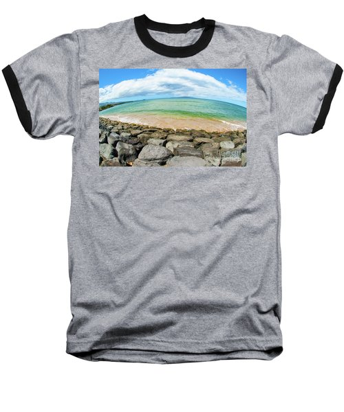 Baseball T-Shirt featuring the photograph Huge Wikiki Beach by Micah May
